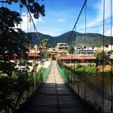 De houten brug van Jalcomulco stock foto