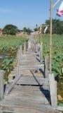 De houten brug van de Kaedam royalty-vrije stock foto's