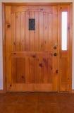 De houten Deur van de Ingang Stock Foto's