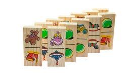 De houten domino's van kinderen Royalty-vrije Stock Fotografie