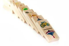 De houten domino's van kinderen Royalty-vrije Stock Foto's