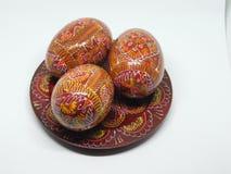 De Houten Eieren van Pasen Royalty-vrije Stock Fotografie