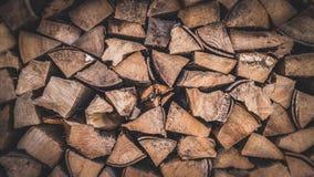 De houten foto van het logboeken volledige kader Stock Afbeeldingen