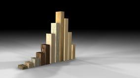 De houten Grafiek van het Gebruik van Types Stock Fotografie