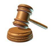 De houten hamer van de wet Stock Foto's