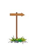 De houten index op een kolom Royalty-vrije Stock Afbeelding