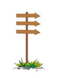 De houten index op een kolom Royalty-vrije Stock Foto