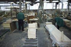 De houten industrie van de zaagmolen stock fotografie