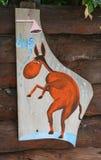 De houten ingang van de teken hangende douche Royalty-vrije Stock Afbeeldingen