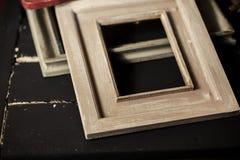 De houten kaders sluiten omhoog royalty-vrije stock foto