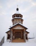 De houten kerk. Stock Foto