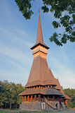 De houten kerk van Sapanta Royalty-vrije Stock Foto's