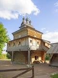 De houten kerk van St George van de XVII eeuw, Kolomenskoye, Moskou Stock Afbeelding
