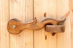 De houten klink van de Deur Royalty-vrije Stock Afbeeldingen