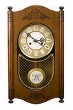 De houten klok van de muur Royalty-vrije Stock Fotografie