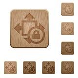 De houten knopen van de slotgrootte Royalty-vrije Stock Afbeeldingen