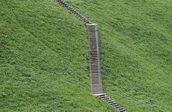 De houten ladder Stock Foto