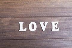 De houten liefde van brievenmiddelen Royalty-vrije Stock Afbeelding