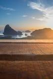 De houten lijst voor vaag samed nangshe Royalty-vrije Stock Foto