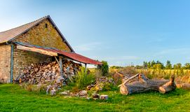 De Houten Loods van Mayenne stock afbeelding