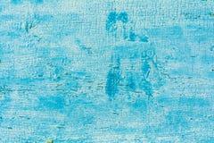 De houten muur met witte verf wordt streng doorstaan en schil Stock Afbeeldingen