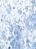 De houten muur met witte verf wordt streng doorstaan en schil royalty-vrije stock foto