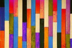 De houten muur van de kleur Stock Afbeelding