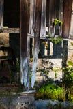 De houten omheining van oldened molen Stock Fotografie