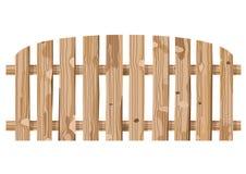 De houten omheiningstextuur en de houten lichtbruine textuur splat achtergrondmuur heldere verticale planken schepen in stock illustratie