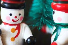 De houten ornamenten van sneeuwmanKerstmis Royalty-vrije Stock Fotografie
