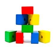 De houten Parels van het Stuk speelgoed Stock Foto's