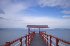 De houten pier stock foto's
