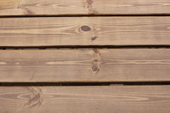 De houten planken in de regen Stock Foto's
