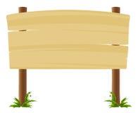 De houten Raad van het Teken vector illustratie
