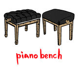 De houten reeks van de pianobank Royalty-vrije Stock Afbeelding