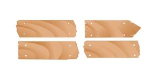 De houten Reeks van het Teken Royalty-vrije Stock Foto's