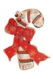 De houten retro ornamenten van Kerstmis, Stock Foto