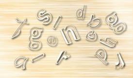 De houten Samenvatting met bestrooit Brievenachtergrond Royalty-vrije Stock Afbeelding