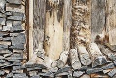 De houten stapel van de brand Stock Foto