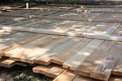 De houten stichting van de bekistings concrete strook royalty-vrije stock fotografie