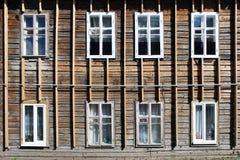 De houten structuur van het gebouw Stock Afbeelding