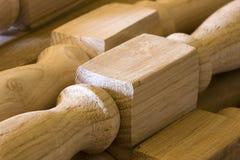 De houten stukken van de timmerman stock afbeelding