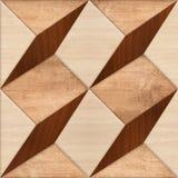 De houten Tegel van de Aard Geometrische Vloer vector illustratie