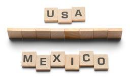 De Houten Tegels van de V.S. Mexico Stock Afbeeldingen