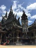 De Houten Tempel van Thailand Stock Foto