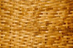 De houten textuur van het bamboe, Thaise handwork Stock Afbeelding