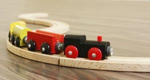 De houten Trein van het Stuk speelgoed Stock Afbeeldingen