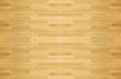 De houten van de het hardhoutesdoorn van het vloerparket bekeken vloer van het het basketbalhof Stock Foto