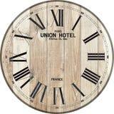 De houten van de het hotelklok van de klokunie houten klok stock illustratie