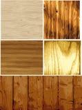 De houten Vector van de Textuur Royalty-vrije Stock Foto's